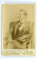 J1712~ Theater Cabinet Card Edwin Voigt by Elmer Chickering Boston MA