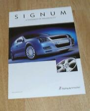 Vauxhall Signum Irmscher Syyling Accessories Brochure 2003