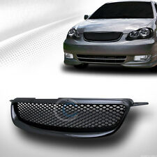 JDM BLK TR-D SPORT MESH FRONT HOOD BUMPER GRILL GRILLE ABS 03-04 TOYOTA COROLLA