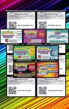Lot de 100 Cartes à code de jeu en ligne Pokemon Online Neuves - Unused