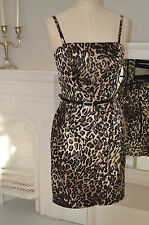 Genuine - GUESS - Xmas Party Evening Black Leopard  Cocktail Dress Size 3