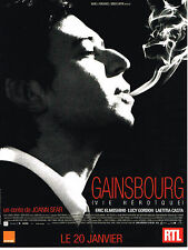 "PUBLICITE ADVERTISING   2010   RTL   GAINSBOURG  "" une vie héroique"""