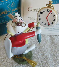 WDCC Disney Alice in Wonderland White Rabbit No Time to Say Hello-Goodbye NIB
