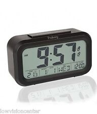 "Large 1.5"" Display LCD Digital Loud Alarm Clock, Automatic Light Sensor, Travel"