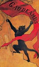 CAT, CHAT, KATZE, GAUDEAMUS, FROM LE CHAT NOIR, BY STEINLEN, MAGNET
