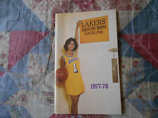 1977-78 LOS ANGELES LAKERS MEDIA GUIDE Yearbook 1978 NBA Basketball Press LA AD