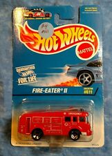 Hot Wheels Fire-Eater II Half-Blue Card #611 1997 MOC sp5 Red MOSC China Engine