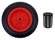 "PU 16"" Puncture Proof RED Wheelbarrow 20 MM NEEDLE BEARINGS Tyre 4.80 - 8 WHEEL"