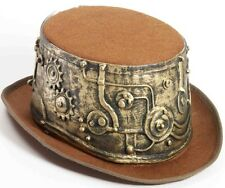 Steampunk Top Hat Deluxe Brown Victorian Industrial Steam Punk - Fast Ship -