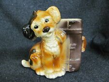 Vintage ROYAL COPLEY Pottery DOG with Briefcase Planter Vase