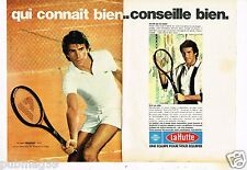 Publicité advertising 1977 (2 pages) Tennis raquette Donnay La Hutte Intersport