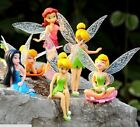 New High Quality PVC 6pcs/set Tinkerbell Fairy Adorable tinker bell Figures