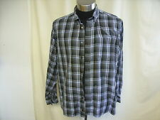 "Mens Shirt M&S Blue Harbour XXL, grey with blue+black check, chest 47-49"" 8275"