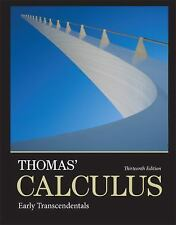 Thomas' Calculus Early Transcendentals Weir Hass Heil 13th US Ed 2013 hardcover