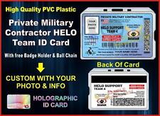 PRIVATE MILITARY CONTRACTOR (HELO TEAM) ID CARD Compare to: Blackwater PMC USA