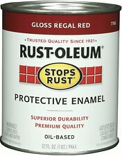New Rust-Oleum 7765502 Stops Rust, 32 oz. Quart, Gloss Regal Red