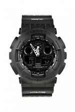 *NEW* CASIO MENS G SHOCK BLACK COMBI ALARM WATCH CASIO GA-100-1A1ER RRP£100