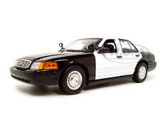 2001 FORD UNMARKED POLICE CAR 1:18 BLACK/WHITE DIECAST MODEL CAR MOTORMAX 73516