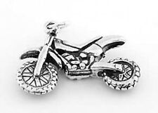 STERLING SILVER MOTOCROSS 3D DIRT BIKE CHARM/PENDANT