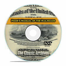 Poor's Manual of Railroads, 24 Railroad US History Volumes DVD E40