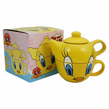 TWEETY PIE TEA POT AND CUP SET -Looney Tunes Cartoon TV Show Kitchen Mug House
