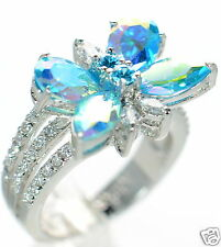 Kirks Folly Monarch Dream Aqua Butterfly Ring Size-6