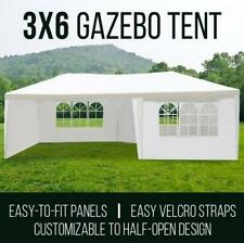 3x6 White Gazebo Tent Canopy Outdoor Wedding Event Shade Marquee 4-window panels