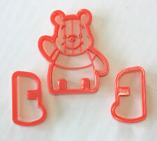 Winnie Pooh Shaped Cookie Cutter, 3D Cutters, Sugarcraft, Fondant, Biscuits