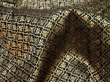 Jacquard fabric Brocade Fabric Black Gold brocade Art silk fabric