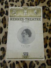 RENNES-THEATRE, revue artistique - saison 1935-36