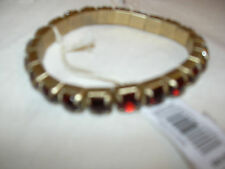 CLUB MONACO RED RUBY CRYSTALS BRACELET NWT