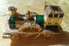 ESTEE LAUDER 2008 ANTIQUE TRAIN COLLECTABLE SOLID PERFUME COMPACT NEW EMPTY