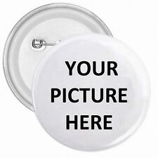 """1"""" Pinback Button Pin Custom Personalized YOUR PICTURE PHOTO LOGO"""