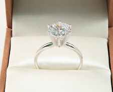 14k White Gold 2.50 CT ROUND BRILLIANT CUT  SOLITAIRE ENGAGEMENT RING