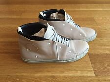 ACNE STUDIOS Mens Tan Leather High Top Sneakers Size EU 41 US 8 $388