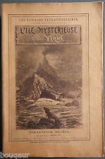 RARE Jules VERNE Hetzel Ile Mystérieuse grand in-8 broché Portrait gravé ajouté