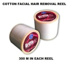 3 REEL OF GRIFFIN EYEBROW COTTON THREAD FOR SPECIAL EYEBROW & FACE HAIR REMOVAL