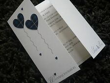 Wedding Invitations..Scottish Theme, Tartan Hearts. Gatefold.