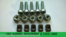 stihl hs75 & hs80 hedge cutter replacement bar sliders,nuts & screw bolts 5 pack