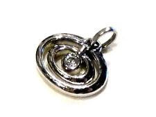 Bijou alliage argenté pendentif ovale cristal pierre lang pendant