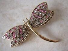 MONET 1980s - FINE VINTAGE DRAGONFLY BROOCH PIN - ART DECO REVIVAL - BUG INSECT