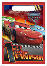 NEW 8 DISNEY CARS LOOT BAGS TREAT SACKS PARTY SUPPLIES LIGHTNING MCQUEEN