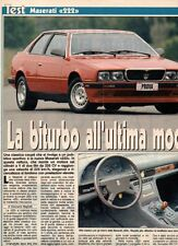 SP55 Clipping-Ritaglio 1988 Test Maserati 222 La biturbo all'ultima moda