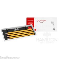 CARAN D'ACHE TECHNOGRAPH 100 YEAR ANNIVERSARY PENCIL SET with sharpener