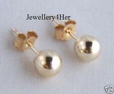 9ct Gold 4mm Small Plain Round Ball Stud Sleeper Earrings X'MAS Gift Box BARGAIN