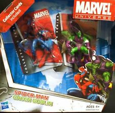 marvel universe - mini spider-man and green goblin double pack with trading card