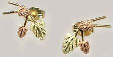 Handcrafted S. Dakota Black Hills 12kt Red Green Gold Leaf Studs Biblical Arabia