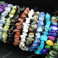 6pcs Wholesale jewelry lots 100% Natural stones mix fashion Bracelets Bangles