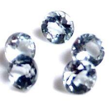 NATURAL LIGHT AQUA BLUE AQUAMARINE LOOSE GEMSTONES (5 pieces) ROUND SHAPE! LOT