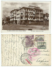 GREECE 1931 POSTCARD FROM THESSALONIKI TO CAGLIARI